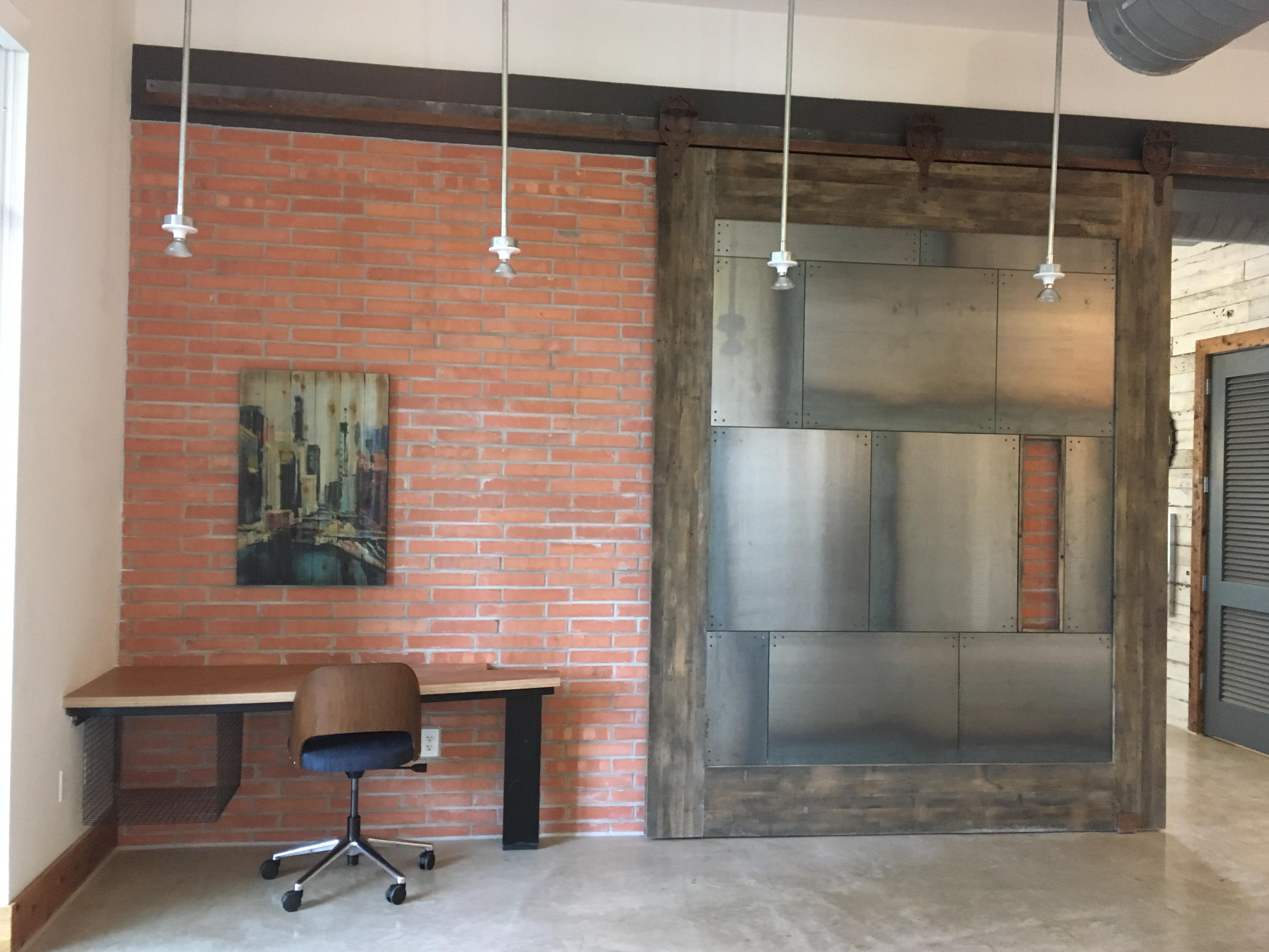Big Tex Bar door, sliding barn door, Custom sliding barn door, Reclaimed wood & steel sliding barn door, interior door, large interior barn door