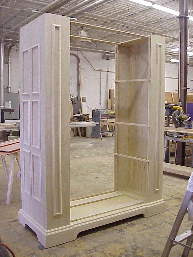 Commercial cabinet under construction