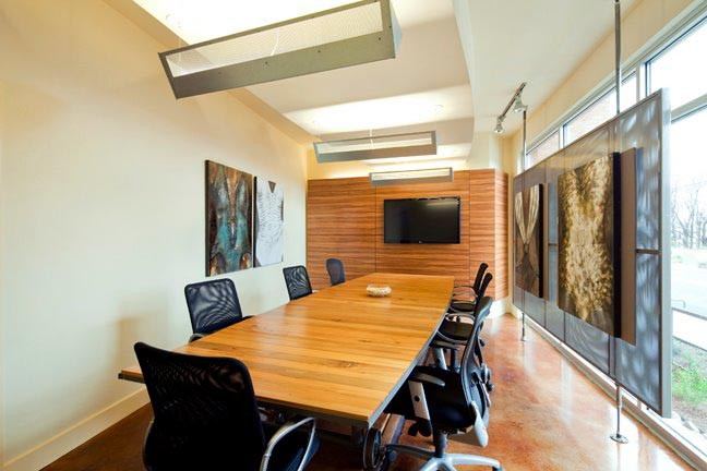 Conference table-wall & art wall. Texas