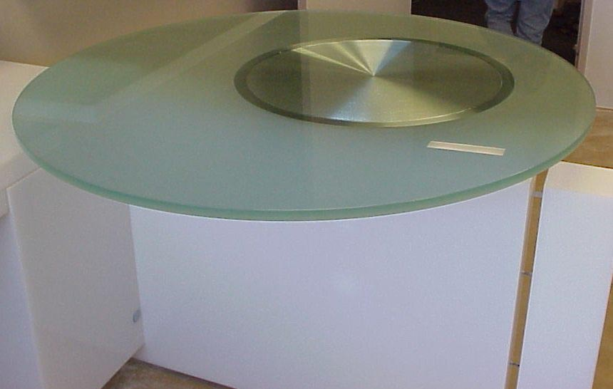 Glass office table, glass table top