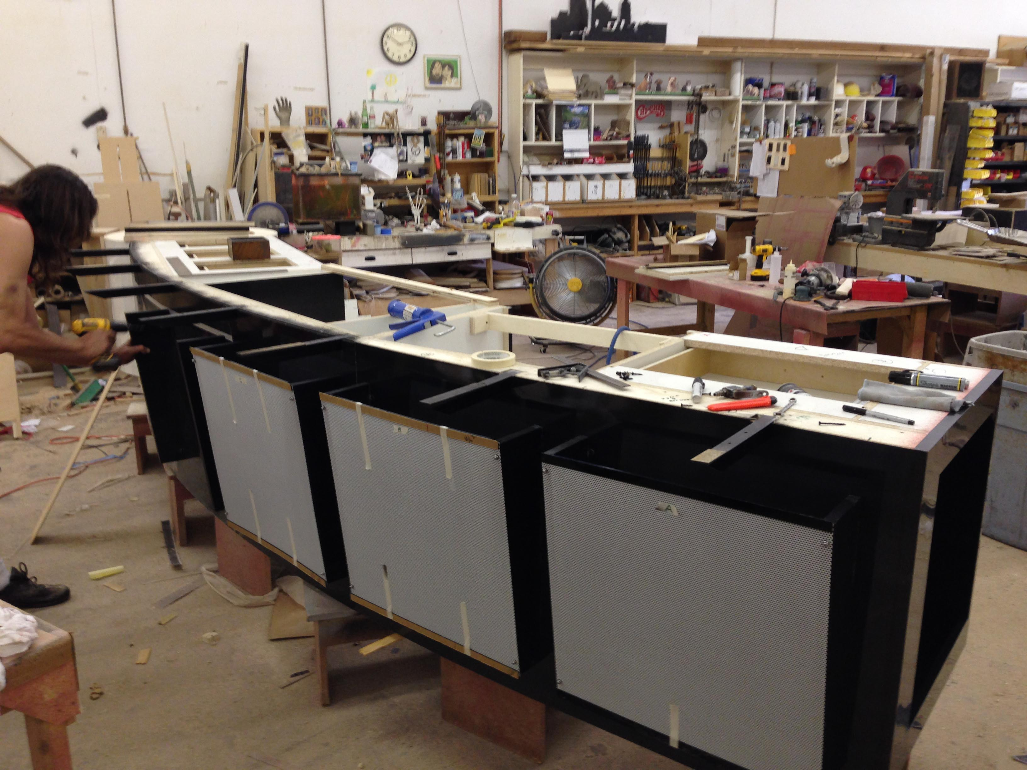 Kitchen Island in fabrication (1)