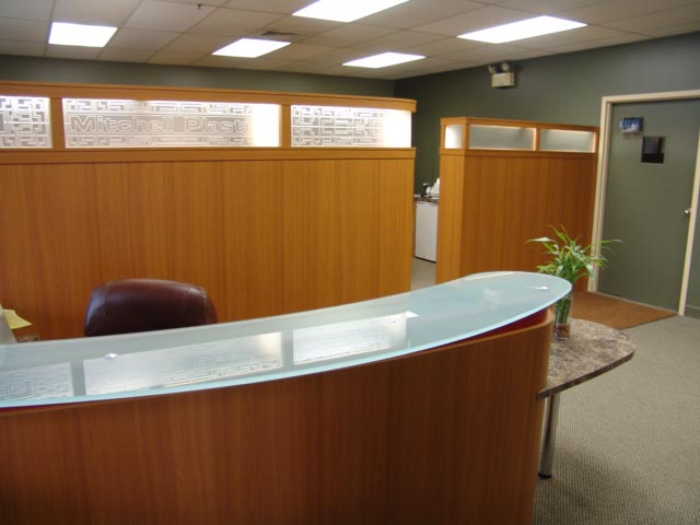 Office reception & partition walls