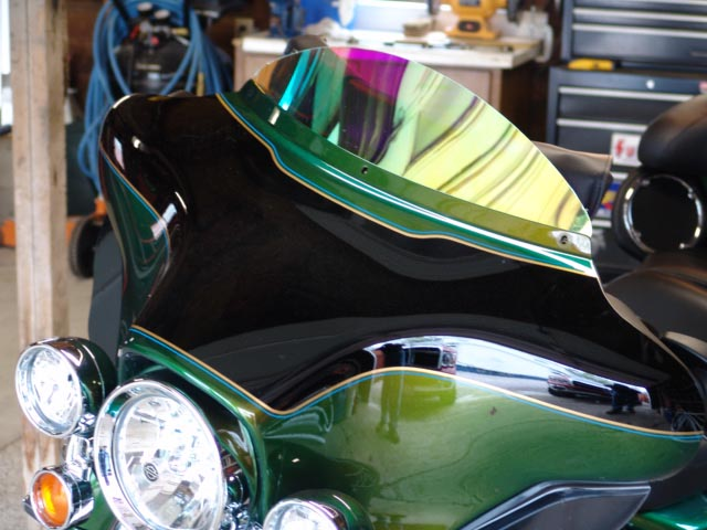 Custom Motorcycle windshield