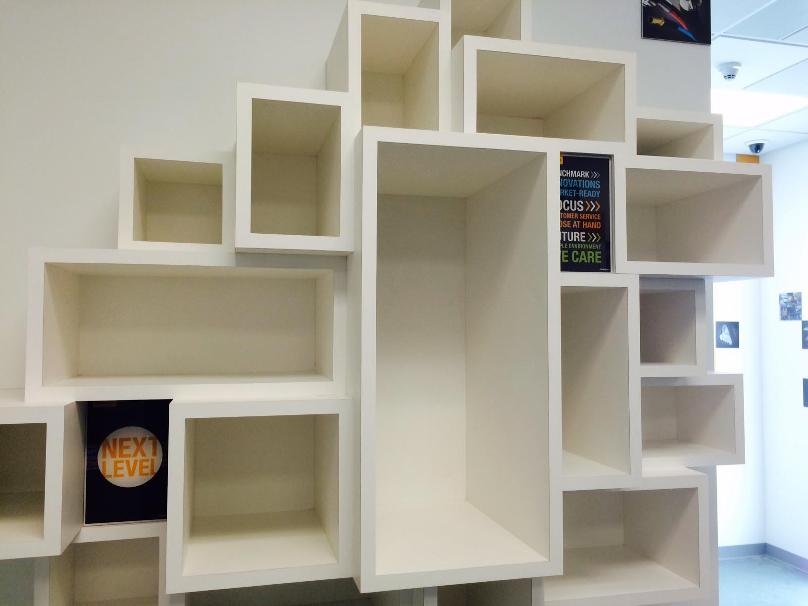 custom cubby display