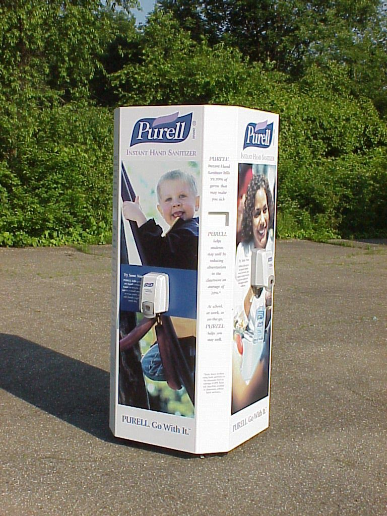 Purell outdoor display
