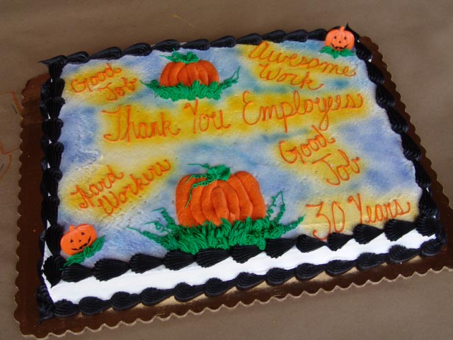 Employee appreciation cake