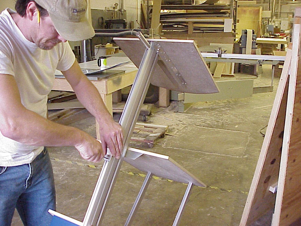 Ron working on a stand