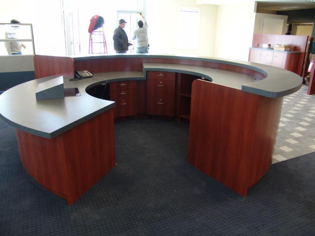 Bank lay out, Reception desk