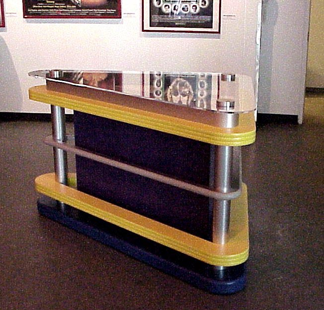 TOMMY BUMPER DISPLAY at the Rock And Roll Hall Of Fame. Pinball bumper display JPG