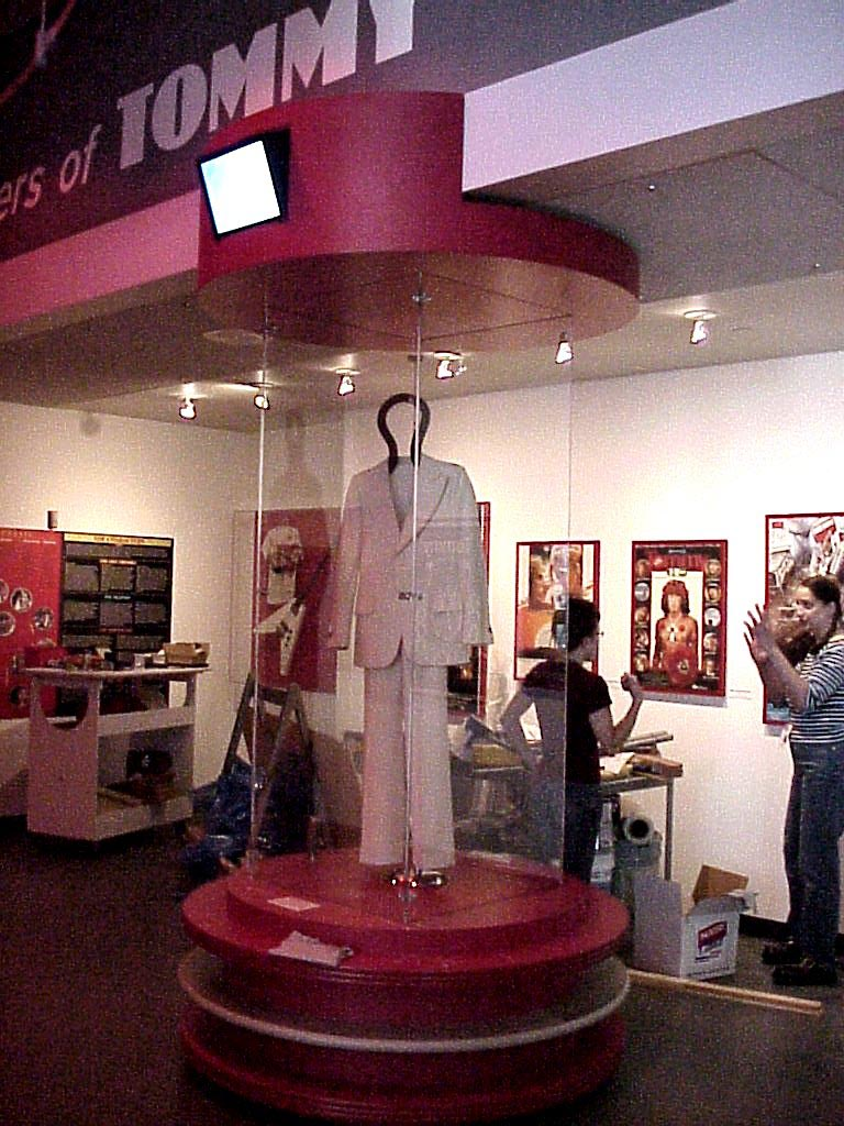 The Who TOMMY mannequin display at the Rock And Roll Hall Of Fame