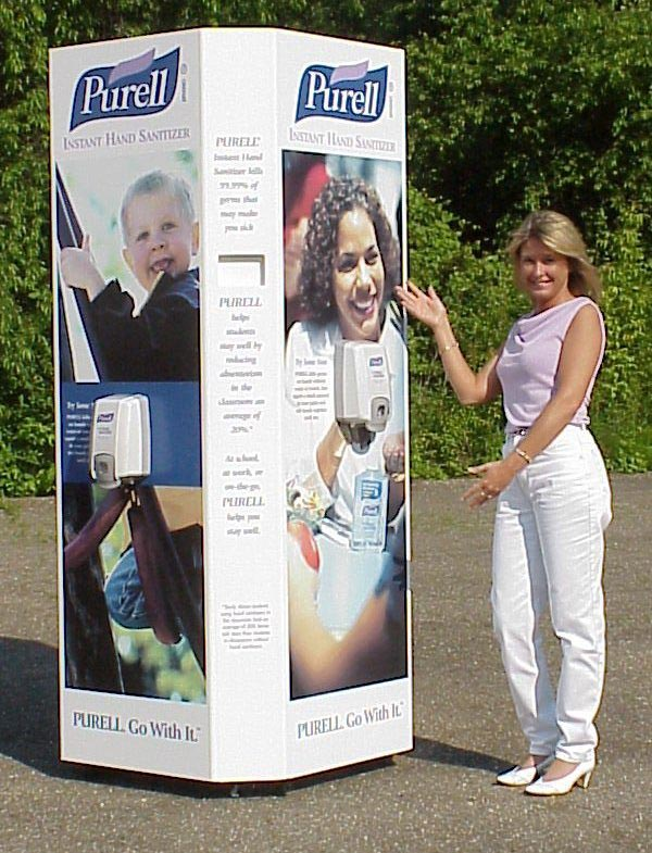 Purell outdoor display 2