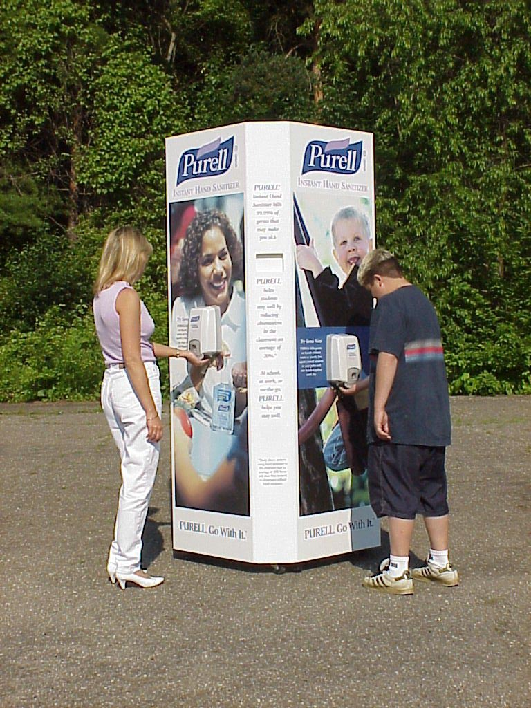 Purell outdoor display 3