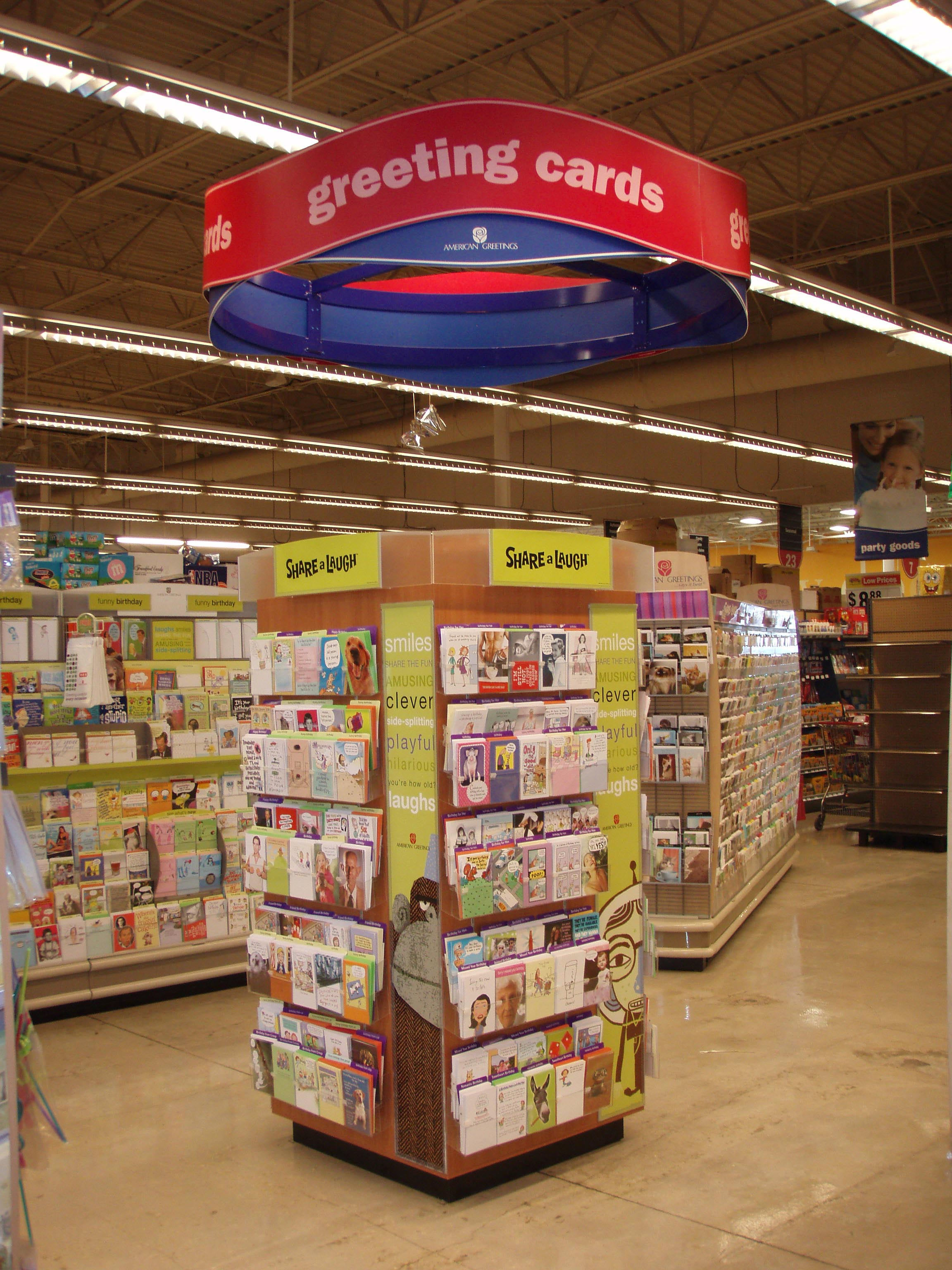 American greetings Hanging in store, Hanging store sign