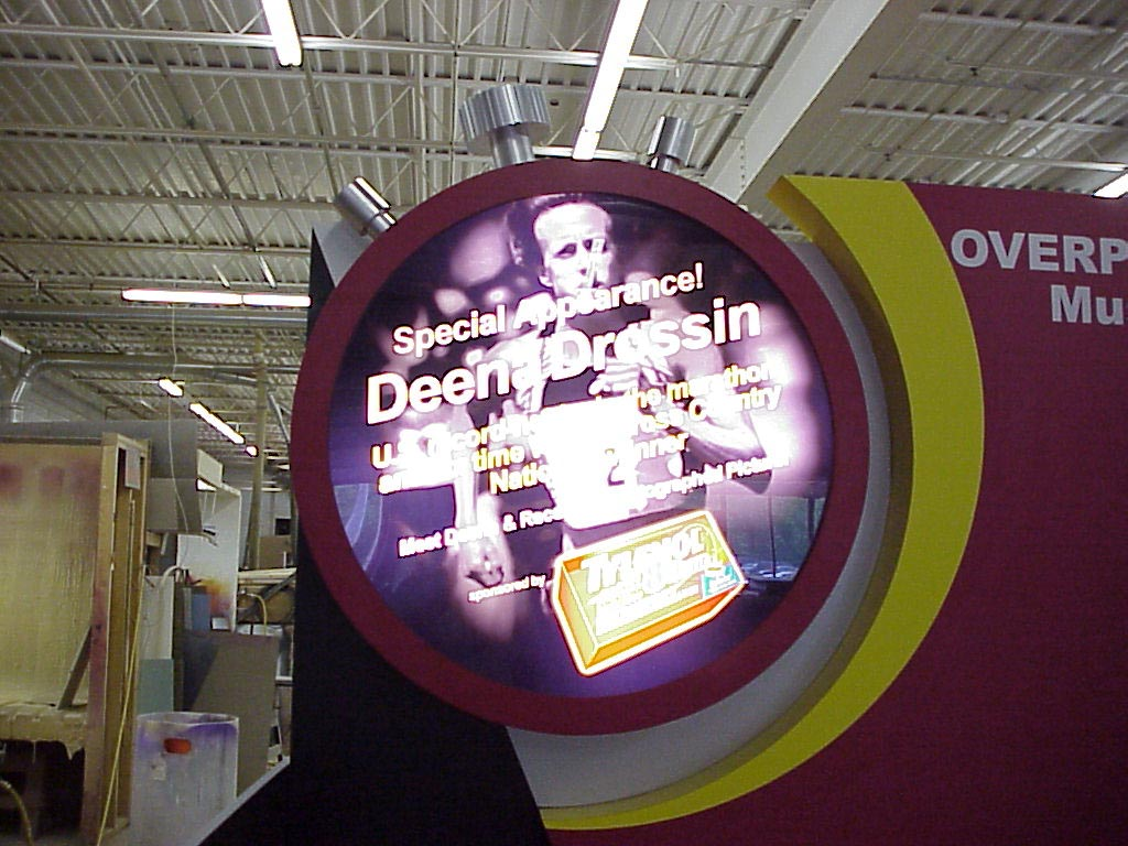 Back lit graphic sign, Tradeshow sign