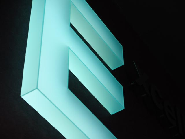Lighted sign,, acrylic lighted sign