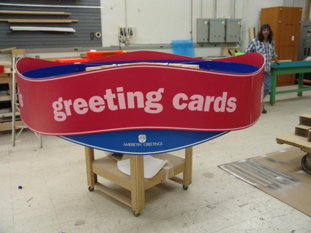 Plastic Hanging sign, American Greetings hanging store sign,