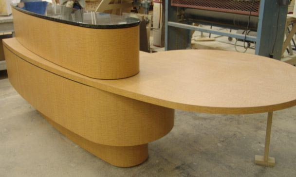 Pluming warehouse reception desk 1