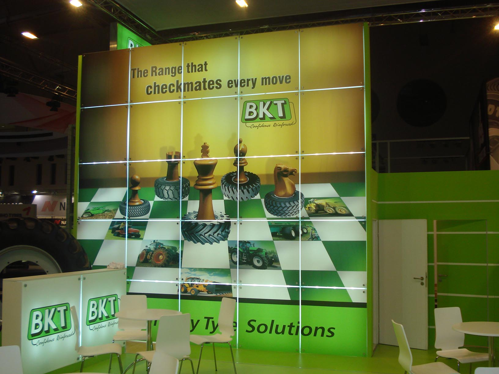 BKT trade show booth,