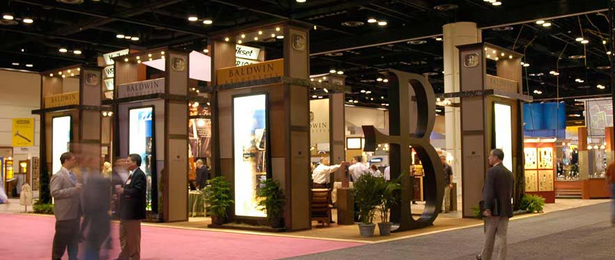 Baldwin Booth, trade show booth