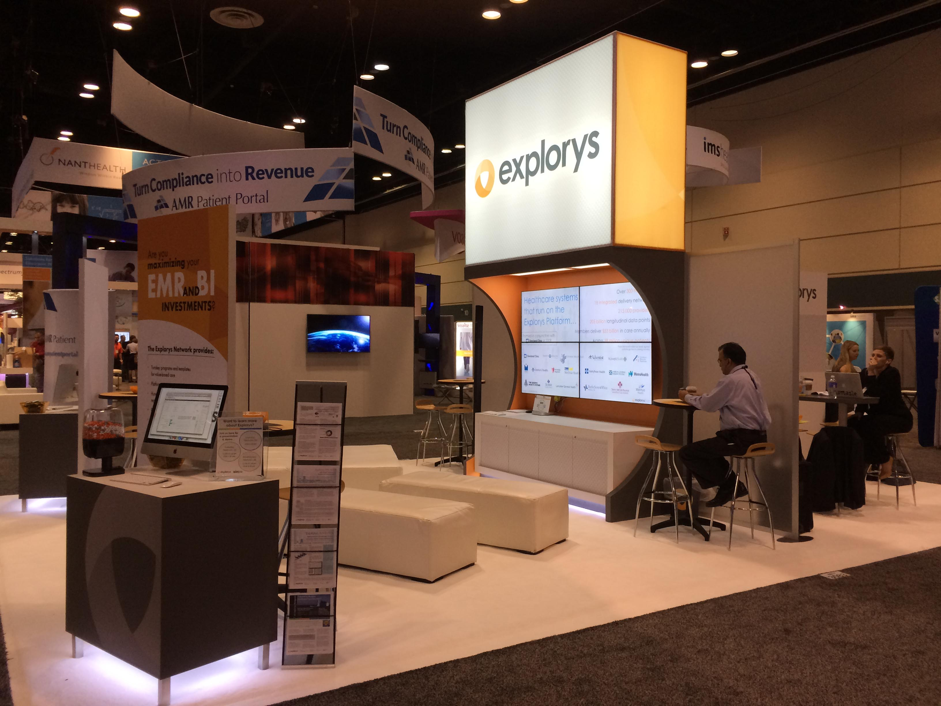 Explorys Trade show booth