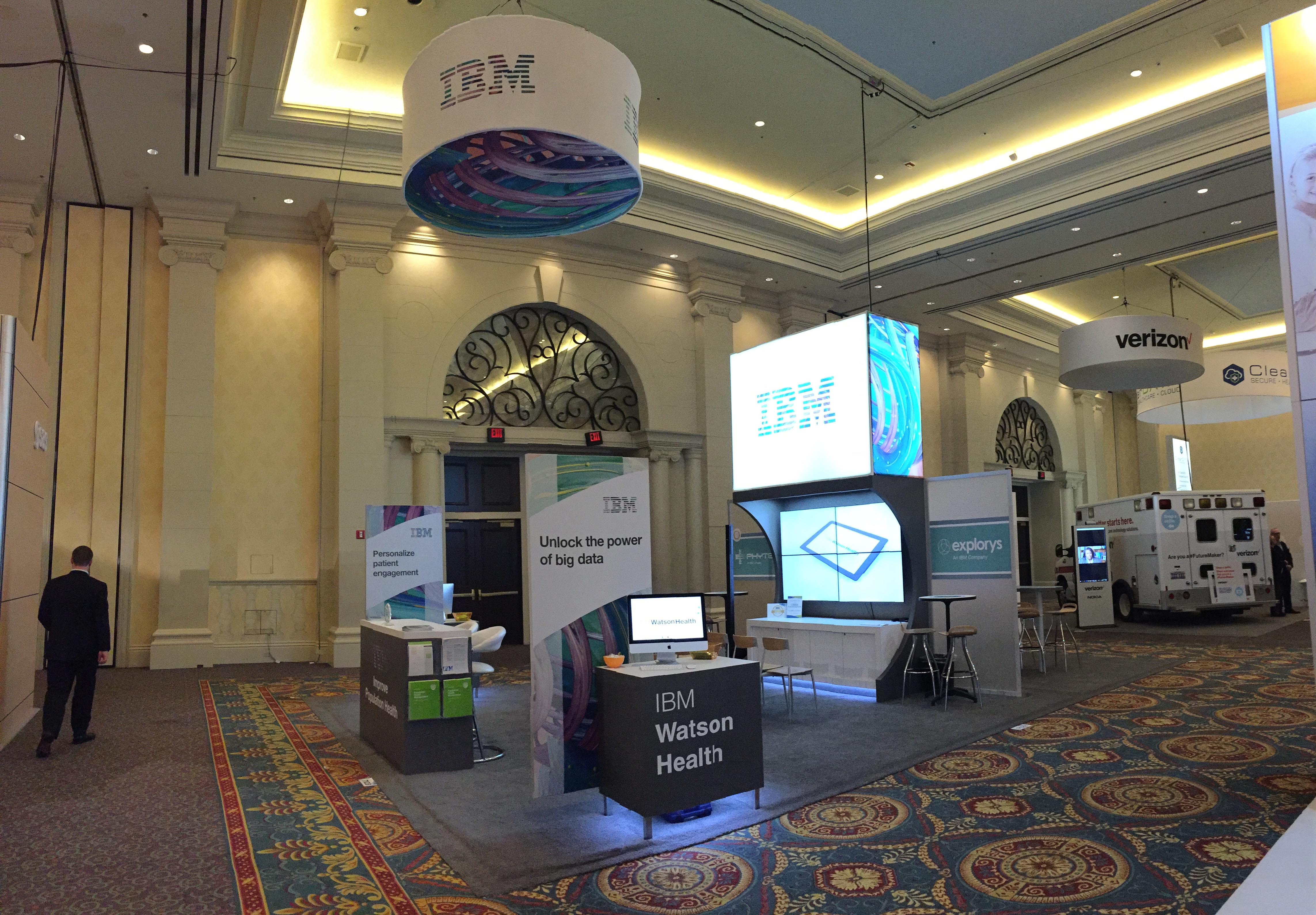 IBM Island Booth, Tradeshow booth