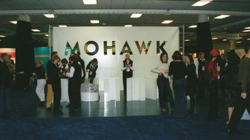 Mohawk booth, tradeshow display, plastic wall