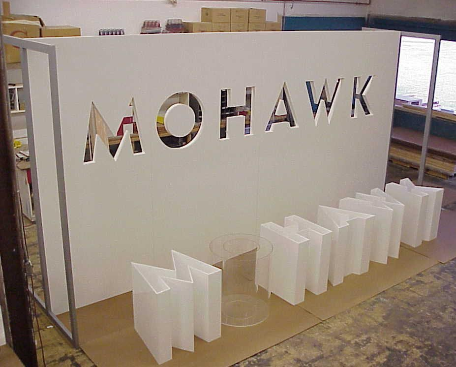 Mowhawk tradeshow display booth, tradeshow booth