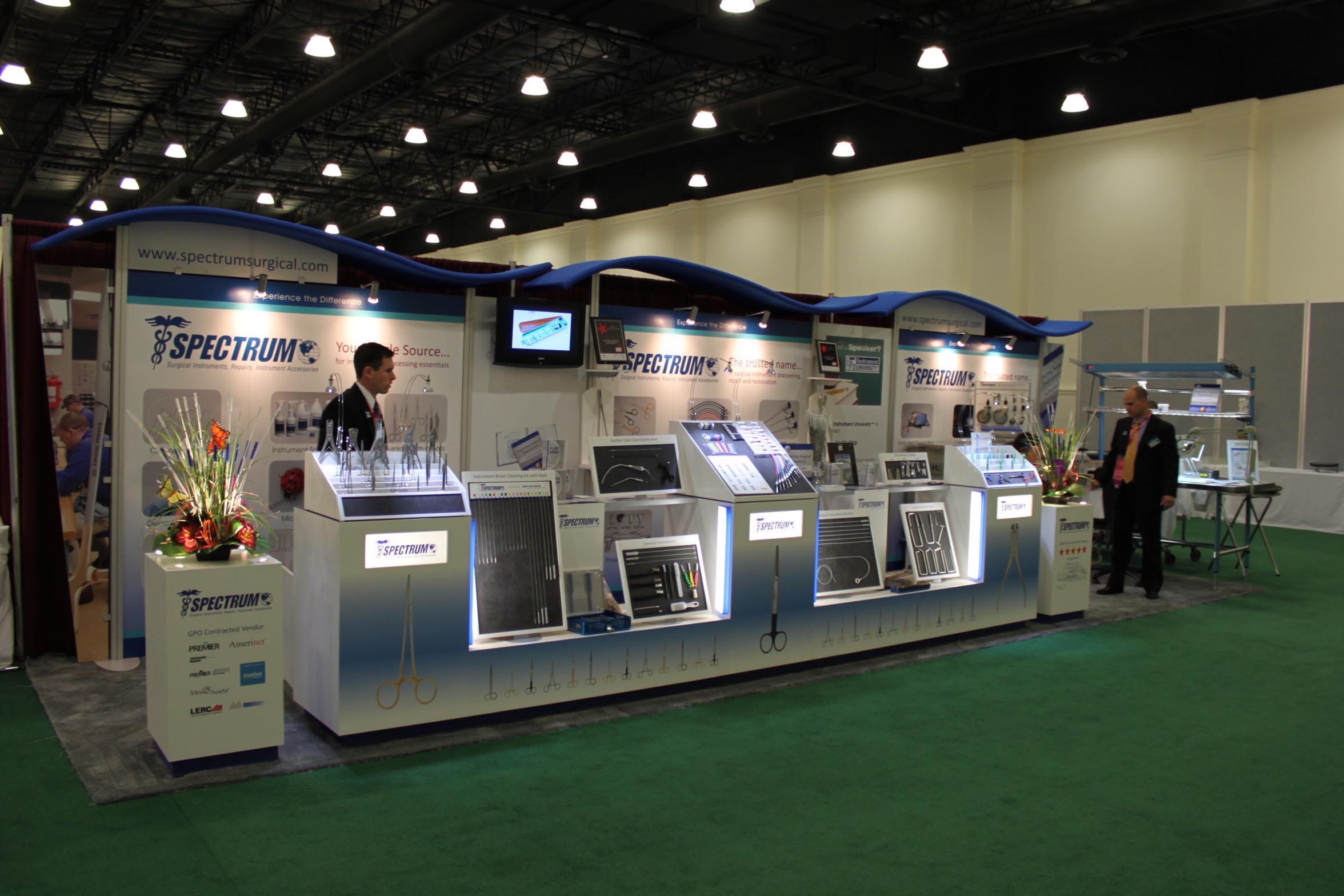 Spectrum trade show booth