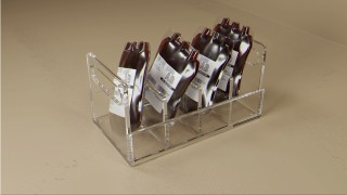 Four Compartment Blood Bag Tray