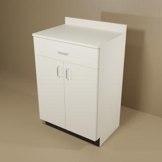 1 Drawer 2 Door Almond Cabinet
