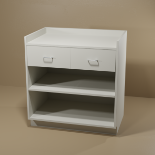 2 Drawer Adjustable Shelf Grey Cabinet