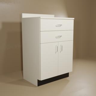 2 Drawer 2 Door Almond Cabinet