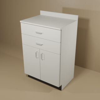 2 Drawer 2 Door Grey Cabinet