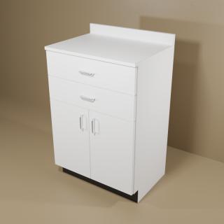 2 Drawer 2 Door White Cabinet