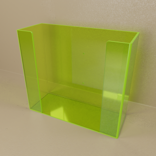 Green Top Load Double Glove Box Holder