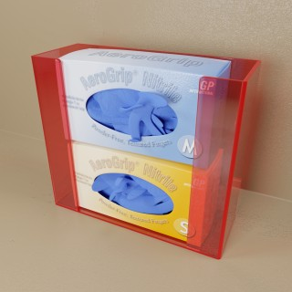 Red Top Load Double Glove Box Holder