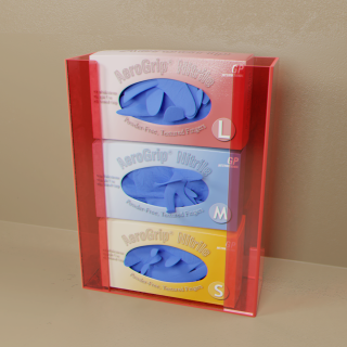 Red Top Load Triple Glove Box Holder