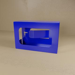 Blue Powder Coated Single Glove Box Holder