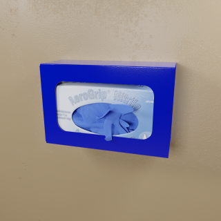 Blue Powder Coated Single Glove Box Holder