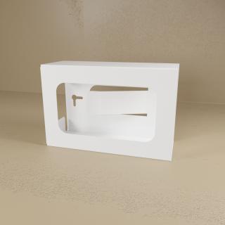 White Powder Coated Single Glove Box Holder