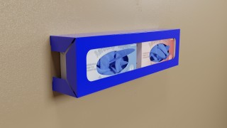 Blue Powder Coated Side Load Double Glove Box Holder
