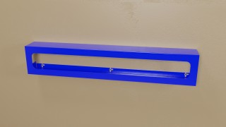 Blue Powder Coated Side Load Triple Glove Box Holder