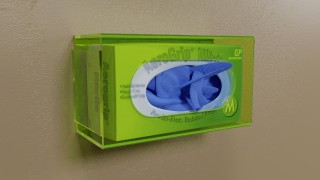Green Side Mount Single Glove Box Holder