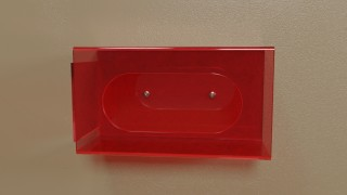 Red Side Mount Single Glove Box Holder