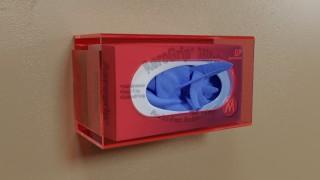 Red Side Mount Single Glove Box Holder