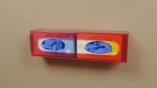 Red Side Mount Double Glove Box Holder