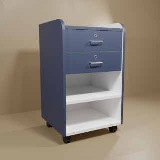 Blue Phlebotomy Cart