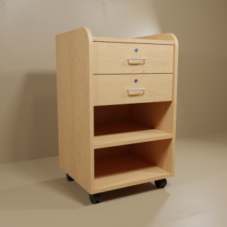 Woodgrain Phlebotomy Cart