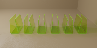 Pack of Six Green Blood Bag Holders
