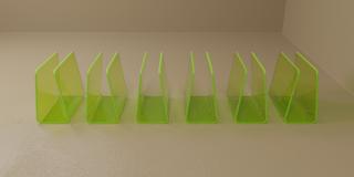 Pack of Six Green Blood Bag Holders